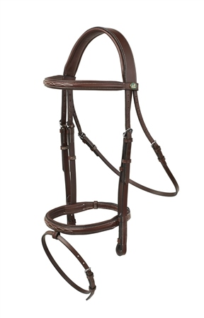 Prestige Italia Prestige Evo Sorrento Fancy Stitch Jumping Bridle  - Click to view a larger image