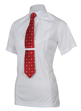 Shires Maids Short Sleeve Tie Shirt  - Click to view a larger image