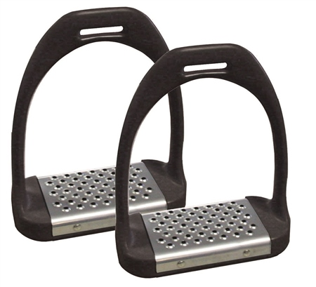 Shires Stirrup Irons with Metal Treads  - Click to view a larger image
