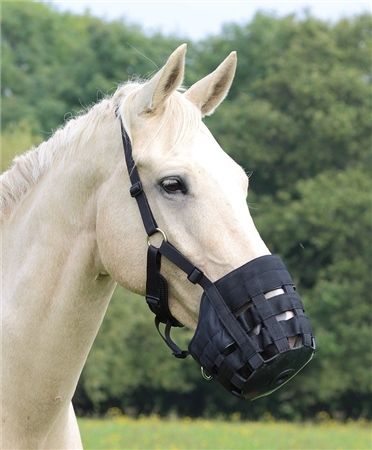 Shires Equestrian Nylon Grass Muzzle  - Click to view a larger image