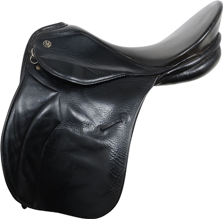 Second Hand Kieffer General Purpose Saddle Black 18 inch Medium  - Click to view a larger image