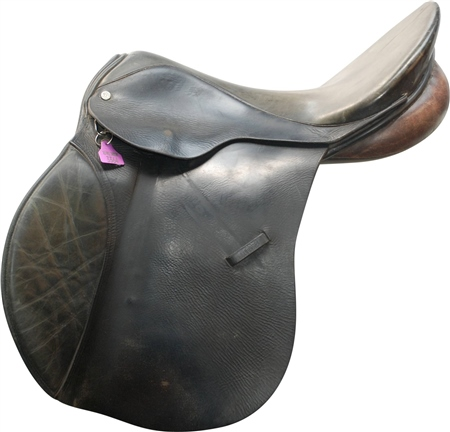 Second Hand Berney Bros GP Saddle Black 18 inch Medium width  - Click to view a larger image