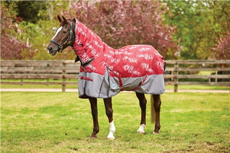 Weatherbeeta Rocky Combo Neck Born to Roll Medium Turnout  - Click to view a larger image