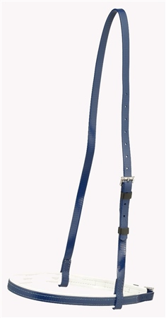 Zilco Racing Zilco Light Cavesson Noseband  Black with white trim  - Click to view a larger image