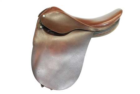 Second Hand Berney Show Saddle 16.5 inch Brown  - Click to view a larger image