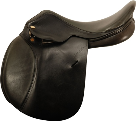 Second Hand Equipro GP Saddle Black 18 inch Medium Wide  - Click to view a larger image